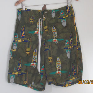 2004 The Simpsons Board Shorts Size 30 Mens EUC